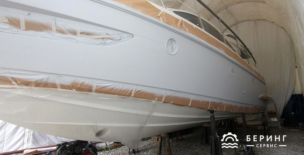 Yacht primed for coloring | Bering-Service