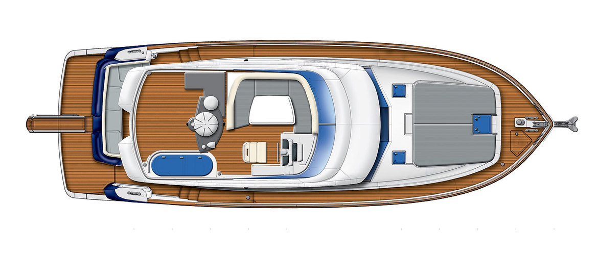 Flybridge deck Magellano 43 Flybridge