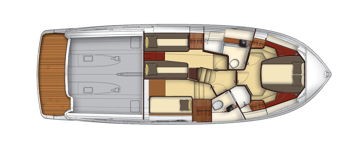 Lower deck Magellano 43 Flybridge