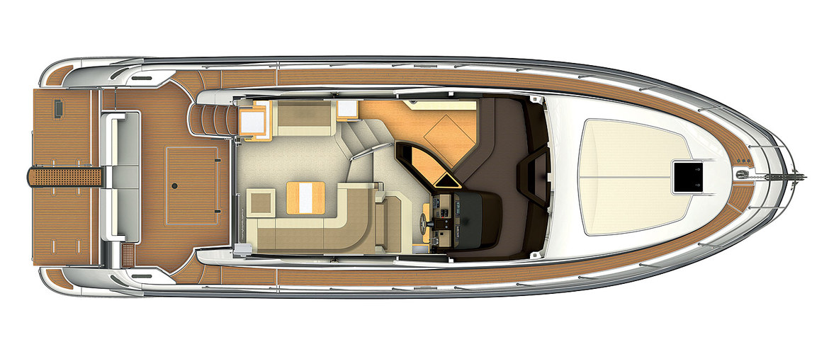 The main deck of the Azimut 45 (2012)