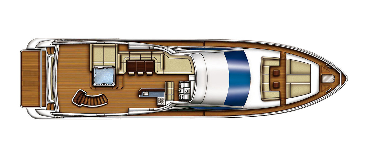 Flybridge Of The Azimut 88 Flybridge