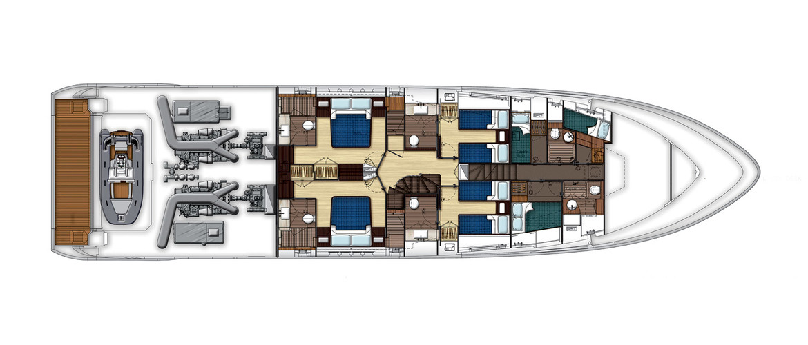 Lower deck (plan #2)