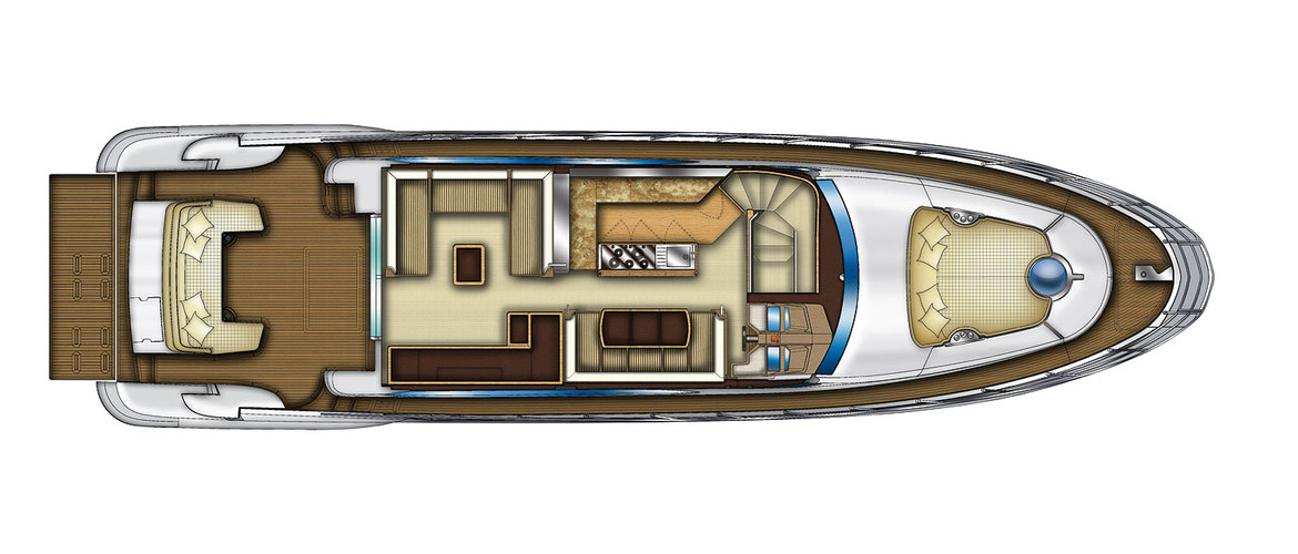 Main deck Azimut Flybridge 64
