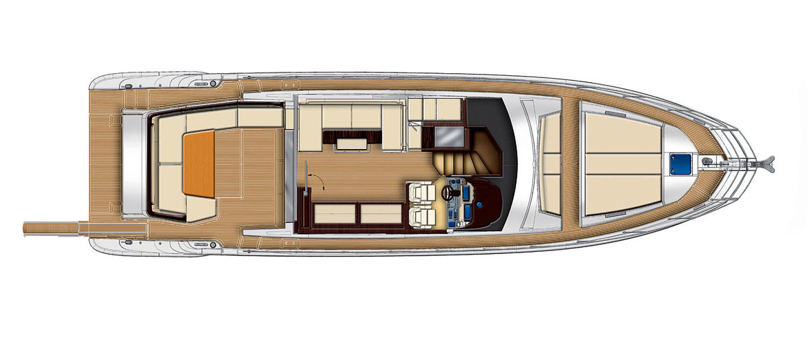Main deck (2 chairs and a sofa on the port side) Azimut 55S